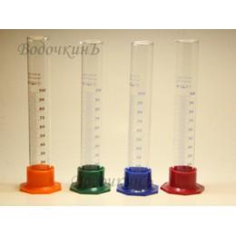 Цилиндр мерный 3-100-2 ГОСТ мл цветная ножка