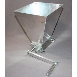 Двухвальцовая мельница/дробилка для солода с бункером